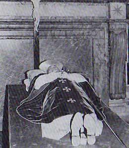 ヨハネ・パウロ1世の遺体