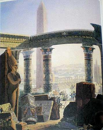 エジプト誌 第2版の扉絵