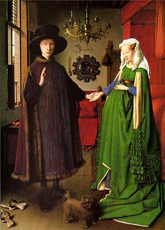 「アルノルフィーニ夫妻の肖像」ヤン・ファン・エイク