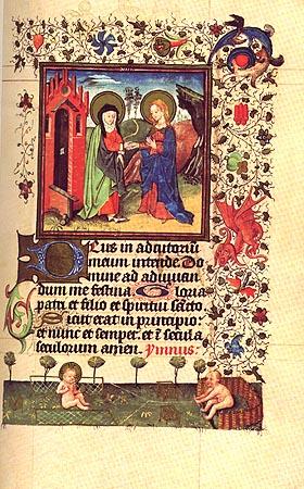 エリザベートとマリア、ヨハネとイエス