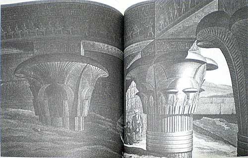エドフ 大神殿柱廊の内部