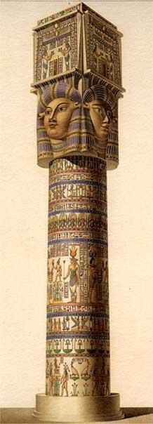 『エジプト誌』よりデンデラの円柱