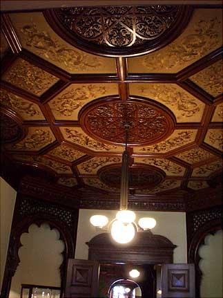 旧岩崎邸 客室天井