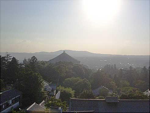 東大寺二月堂から眺めた風景