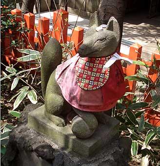 花園神社 お狐様