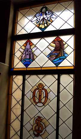 四谷の聖イグナチオ教会のステンドグラス