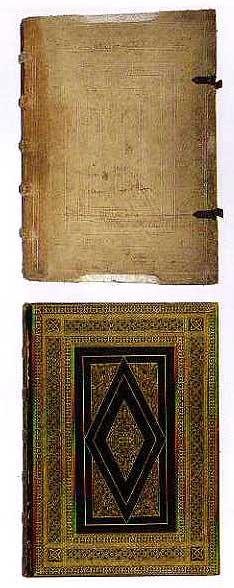 グーテンベルク聖書の装丁(表・裏)