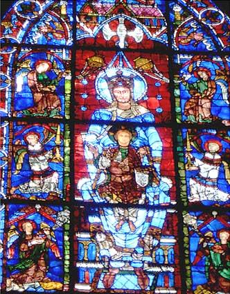 シャルトル大聖堂 ステンドグラス 青の聖母