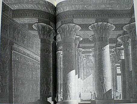 エスナ 神殿の内部