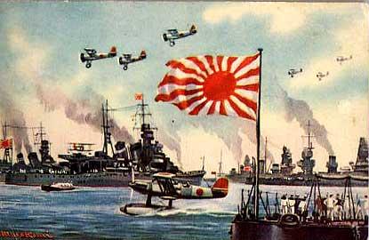 軍港に入った艦隊