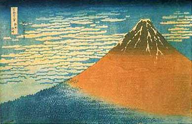 富嶽三十六景「凱風快晴」