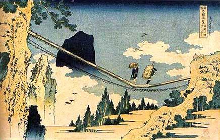 諸国名橋奇覧「飛越の境つりはし」