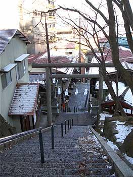 伊香保神社に続く石段通り