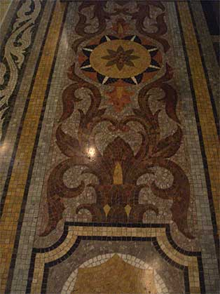国会議事堂 中央広間 大理石モザイクの床
